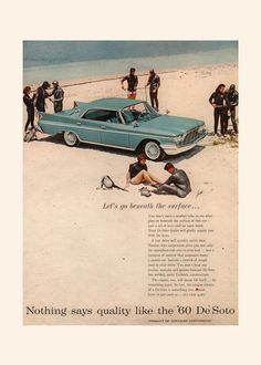 1960 DeSoto CAR AD Retro Car Ad Car Poster by EncorePrintSociety