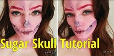 See how I created this pink sugar skull halloween look for breast cancer care campaign #thebigpink