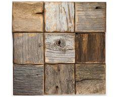 Reclaimed barn wood wood-look ceramic  tiles | amazing backsplash or rustic bathroom floor