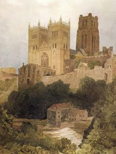 Cotman, John Sell (1782-1842) - Durham Cathedral. #england