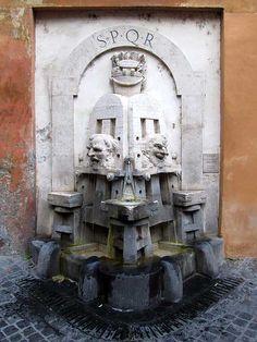 Fontana delle Arti (Fountain of the Arts) by Pietro Lombardi, Via Margutta, Rione Campo Marzio  Rome
