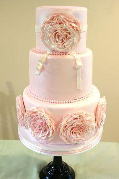 beautiful soft pink cake