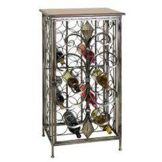 $169.99 Casa Cortes Wrought Iron 32-bottle Wine Holder Rack