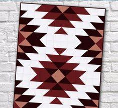 Modern Southwest Quilt Patterns - Sew What, Alicia? Modern Quilt Patterns, Quilt Patterns Free, Aztec Patterns, Simple Quilt Pattern, Southwestern Quilts, Motifs Aztèques, Geometric Quilt, Quilt Baby, Twin Quilt