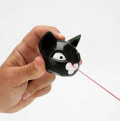 pretty bad ass cat laser! 14 Thrifty Gifts For the Cat Lady/Man in Your Life Gifts For Pet Lovers, Cat Gifts, Cat Laser, Pirate Cat, Owning A Cat, Cat People, Cat Furniture, Diy Stuffed Animals, Cat Toys