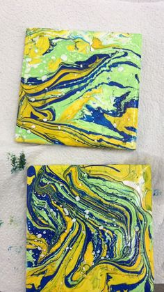 DIY Marbled Coasters Tutorial