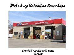 Picked up Valvoline Oil Change Franchise