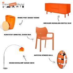 Oranje meubels!
