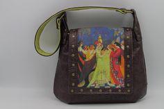 Boho Festival Celtic Screen Print Shoulder/ Messenger Bag in faux embossed leather -- Belle at Phantazmagorium Steampunk Bags, Still Life Artists, Boho Festival, Leather Bags, Celtic, Screen Printing, Messenger Bag, 3 D, Diaper Bag