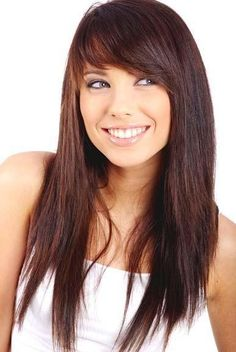 Short hair Style Guide and Photo: Women long hairstyles with bangs 2013