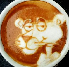 :*¨¨*:·. Coffee ♥ Art.·:*¨¨*: Pink Panther latte