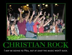 Chidester's article discussed how religions can incorporate bits of popular culture in order to be more accepted by a changing society. Christian rock music is one example of this. However, many people seem to think that there should be a separation of church and rock music.