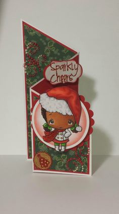Christmas card using altered TGF stamps