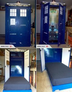 TARDIS hideaway bed! My children will have this. <-- children? I WILL HAVE THIS