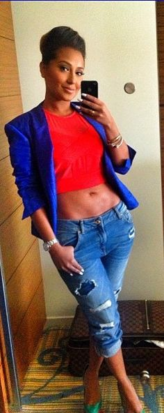 Love this shirt but full length paired with cobalt blue blazor but for a lighter fit a cardigan is preferred