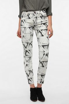 BDG Twig High-Rise Jean - Abstract Geo Print  #UrbanOutfitters