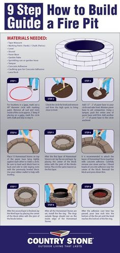 How to build a fire pit.....in case Marcus didn't do it right!!