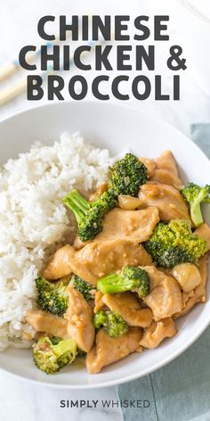 This Chinese chicken and broccoli stir fry is easy and healthy with a sauce that takes just like takeout Serve it with jasmine rice for a simple recipe thats perfect for. Healthy Chinese Recipes, Asian Recipes, Healthy Recipes, Chinese Food Recipes Chicken, Chinese Desserts, Fast Recipes, Chinese Vegetables, Mixed Vegetables, Jasmine Rice Recipes