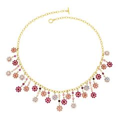Pretty in Pink Necklace   Fusion Beads Inspiration Gallery- use the crystal flowers from my stash