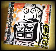 Original Graffiti Art Collage Painting on by thefactory101 on Etsy, $65.00