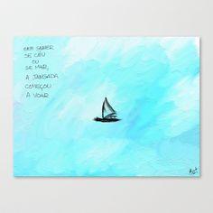 Flying jangada Stretched Canvas by Escrevendo e Semeando - $85.00