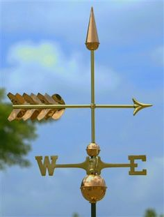 Humble Antique Brass Weather Vane Directional Arrow Pointer To Suit The PeopleS Convenience Architectural & Garden Weathervanes & Lightning Rods