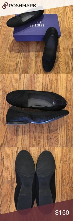 Stuart Weitzman Black Textured Loafer shoes 8 1/2N New in Box, black textured almost mini beaded textured (they not beaded though) textured loafer shoes in a Ladies 8 1/2N (narrow). New, never worn, from a non smoking home. Stuart Weitzman Shoes Flats & Loafers