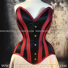 2b9ccd74767 New MCC-125 satin overbust tightlacing waisttraining corset MystiC City  Corsets