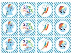 DIY Printable My Little Pony Rainbow Dash por shoptinyanchor