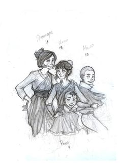 children by ~drakonarinka on deviantART.  Not really sure what's up with the spelling of their names here, but it's a really cool piece
