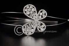 Crystal Butterfly Bridal Headband