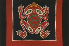 Native-Frog Button Blanket by Crystal.H, via Flickr