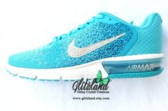 Ready To Ship and 25% off Swarovski Womens Size 7.5 Nike Air Max Sequent 2 22f7c8f59544