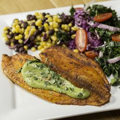 Chili Lime Baked Tilapia With Avocado Crema Recipe by Tasty