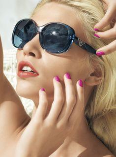 ♔ Prada Oversized Sunglasses