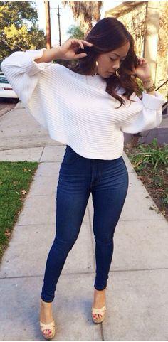 Off Shoulder Crop Sweater - Ivory