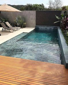 The post 21 Best Swimming Pool Designs [Beautiful Cool and Modern] appeared first on Terrasse ideen. 21 Best Swimming Pool Designs [Beautiful Cool and Modern] Swimming pool design ideas Backyard Pool Designs, Small Backyard Pools, Small Pools, Patio Design, Backyard Patio, Outdoor Pool, Backyard Ideas, Pool Ideas, Fence Design