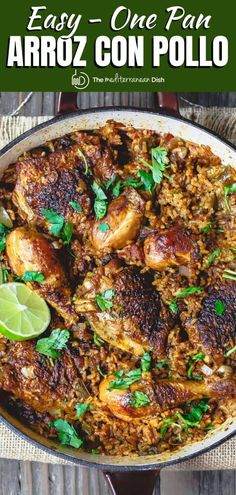 Chicken And Rice Dishes, Chicken Rice Recipes, Mediterranean Dishes, Mediterranean Diet Recipes, Whole Food Recipes, Dinner Recipes, Dinner Ideas, Healthy Cooking, Cooking Recipes