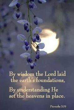 Proverbs 3:19