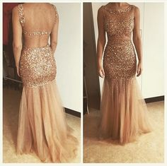 Crystal Evening Dresses, Beading Prom Dresses, Mermaid Party Dress, Long Formal Dress