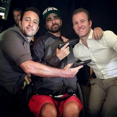 Stoked to hang with my boys Alex & Scott on the set of Hawaii Five-0 today
