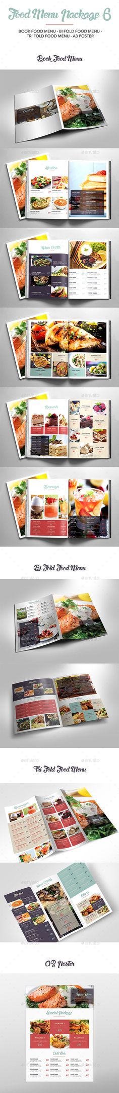 Food Menu Package Template InDesign INDD #design Download: http://graphicriver.net/item/food-menu-package-6/14390813?ref=ksioks