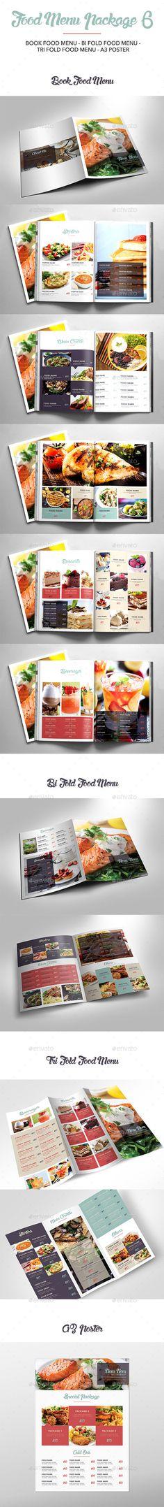 Food Menu Package Template InDesign INDD #design Download: http://graphicriver.net/item/food-menu-package-6/14390813?ref=ksioks
