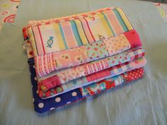 I made these with fleece lining, to get the stitched quilt-look.