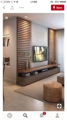 Meuble Tv Angle, Living Room Tv Unit, Living Room Decor, Living Room Designs, Be… - Home Decoraiton Tv Wall Design, House Design, Tv Cabinet Design Modern, Ceiling Design, Wall Panel Design, Tv Wall Cabinets, Living Room Cabinets, Tv Wall Decor, Wall Tv
