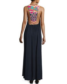Embellished-Back+Maxi+Dress+by+Ondademar+at+Neiman+Marcus.