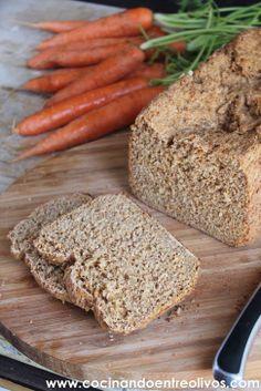 Cocinando entre Olivos: Pan de molde integral de zanahoria con panificadora. Receta paso a paso