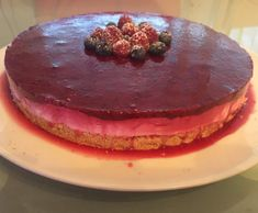 Cheesecake fit com frutos vermelhos by Boas on www.mundodereceitasbimby.com.pt