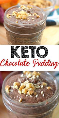 Low Carb Chocolate Pudding Idea – Quick and easy recipe for a ketogenic diet – Fully keto-friendly chia dessert – ketogenic diet recipes Low Carb Pudding Recipe, Easy Pudding Recipes, Keto Pudding, Soup Recipes, Low Carb Desserts, Low Carb Recipes, Healthy Recipes, Keto Chia Seed Recipes, Healthy Dishes