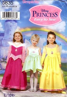 Image detail for -Simplicity Pattern 5835 Disney Princess Easy To Sew Girls Costumes ...